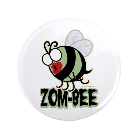Zom-Bee  Funny 3.5 Button by CafePress