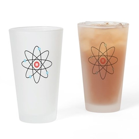 Atomic  Geek Drinking Glass by CafePress