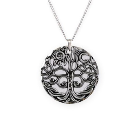 Celtic Tree Of Life Custom Circle Charm Necklace Vintage Necklace Circle Charm by CafePress
