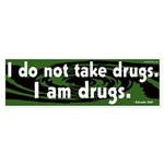 I am drugs Dali Bumper Sticker