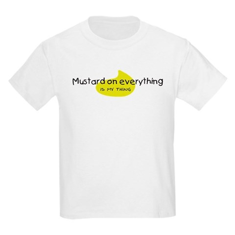 Product Image of Mustard on Everything Kids Light T-Shirt