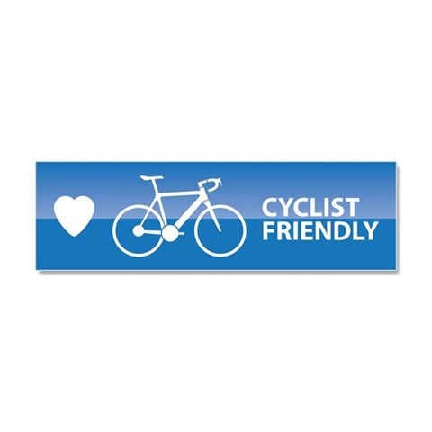 Cyclist Friendly  Sports Car Magnet 10 x 3 by CafePress