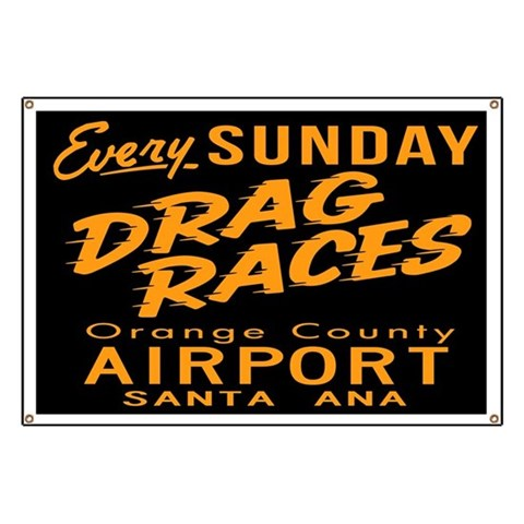 Drag Races  Retro Banner by CafePress