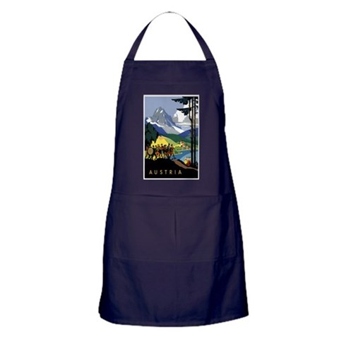 Austria Band Travel  Vintage Apron dark by CafePress