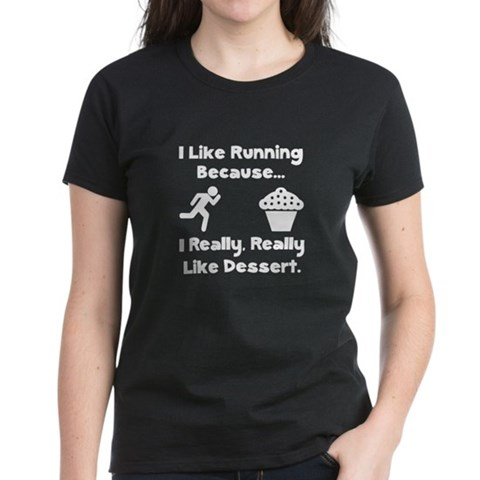 Product Image of Running Dessert Women's Dark T-Shirt
