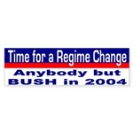 Time for Regime Change Bumper Sticker