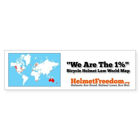 We Are The 1 Per Cent 50 Pack Bicycle Bumper Sticker 50 pk by CafePress