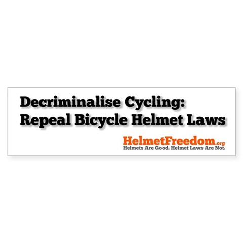 Decriminalise Cycling 10 Pack Bicycle Bumper Sticker 10 pk by CafePress
