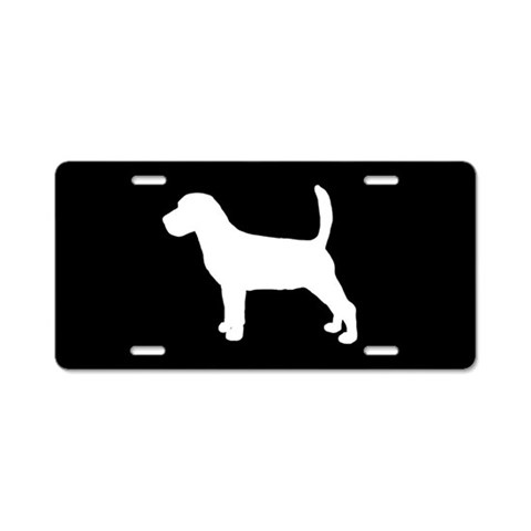 Beagle SILHOUETTE  Pets Aluminum License Plate by CafePress