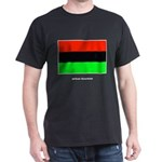 African American Flag (Front) Black T-Shirt