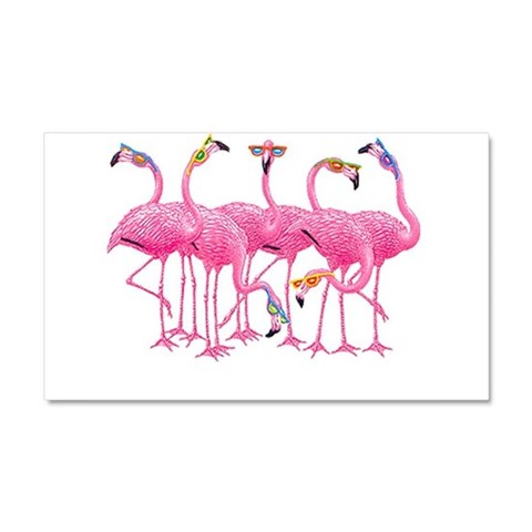 Cool Flamingoes  Cool Car Magnet 20 x 12 by CafePress