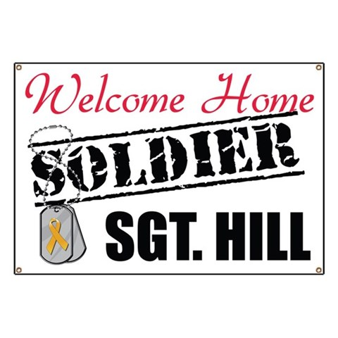 Custom Welcome Home   Banner by CafePress