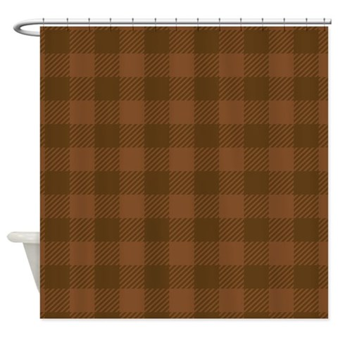 Plaid Brown  Goth Shower Curtain by CafePress