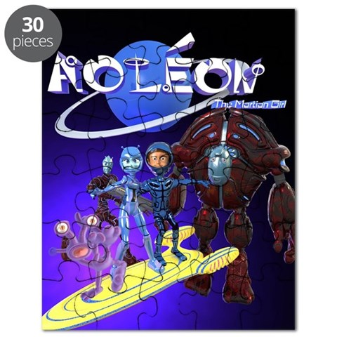 Aoleon The Martian Girl  Gilbert Puzzle by CafePress