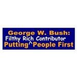 Bush Puts Who First? Bumper Sticker