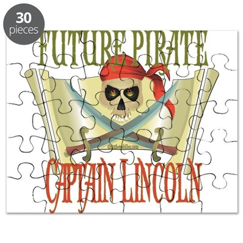 Captain Lincoln  Skull Puzzle by CafePress