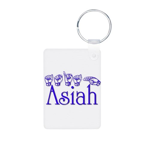 Asiah  Autism Aluminum Photo Keychain by CafePress
