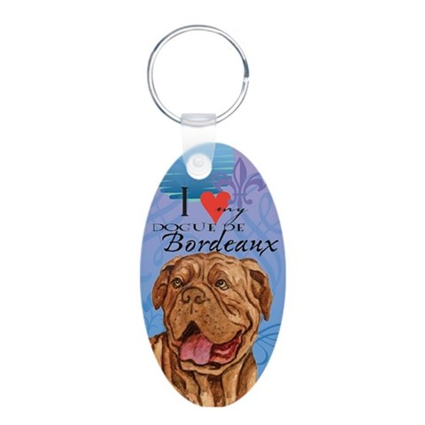 Dogue de Bordeaux  Dog Aluminum Oval Keychain by CafePress