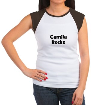Camila Rocks Women's Cap Sleeve T-Shirt