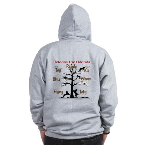 New and improved Release the HoundPrivate Design Sports Zip Hoodie by CafePress