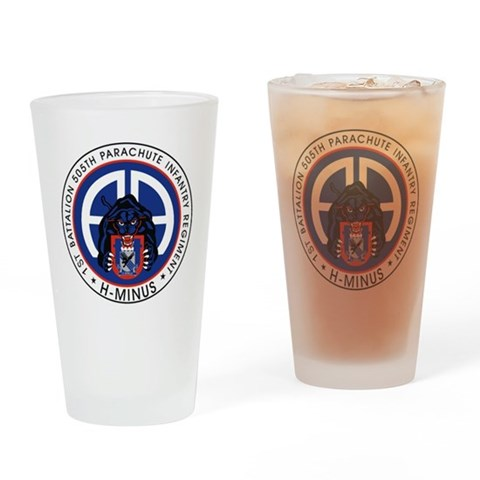 1st / 505th PIR  Military Drinking Glass by CafePress