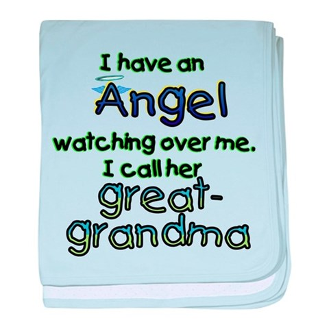 ANGEL CALLED GREAT-GRAMDMA  Funny baby blanket by CafePress