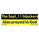 Hijackers Prayed Bumper Sticker