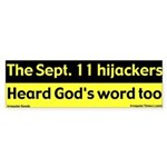 Hijackers heard God's Word Bump. Sticker