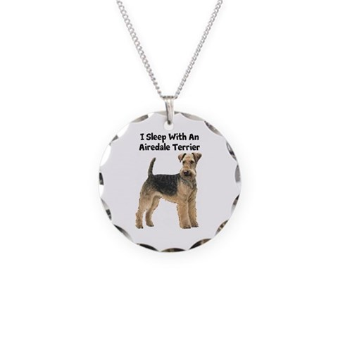 Airedale Terrier  Pets Necklace Circle Charm by CafePress