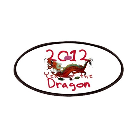 2012 - Year of the Dragon  Funny Patches by CafePress