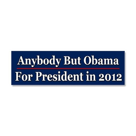 Defeat Obama in 2012  Anti obama Car Magnet 10 x 3 by CafePress