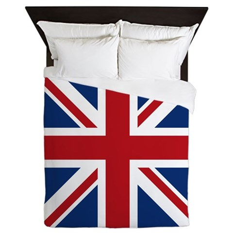 Union jack Queen Duvet by CafePress