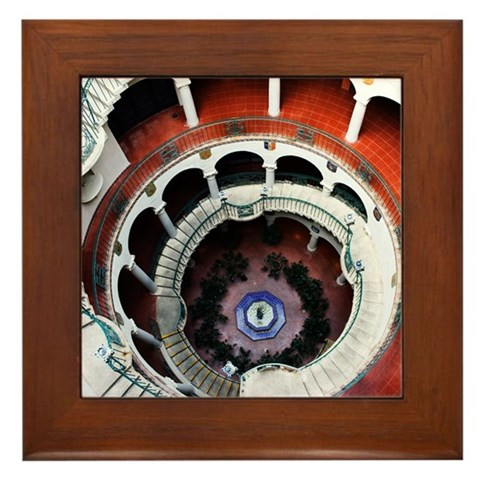 - Mission Inn Architecture Framed Tile by CafePress