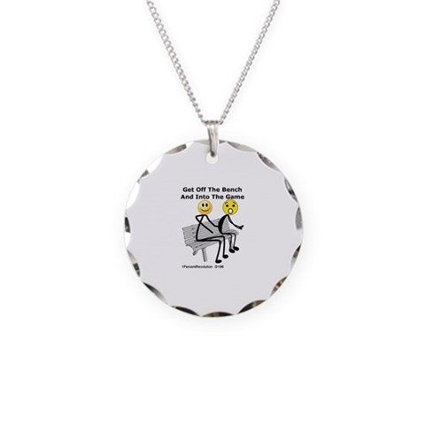 196OffBench  Cupsreviewcomplete Necklace Circle Charm by CafePress