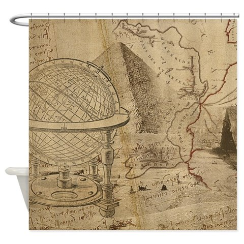 Vintage Shower Curtain by CafePress