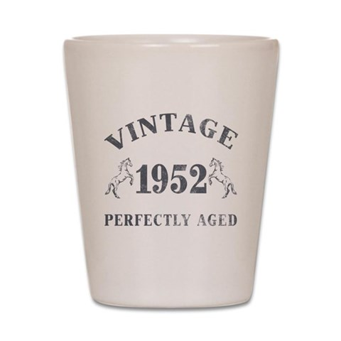 1952 Vintage w/ Horses  Funny Shot Glass by CafePress