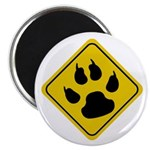 Cat Paw Crossing Sign Magnet
