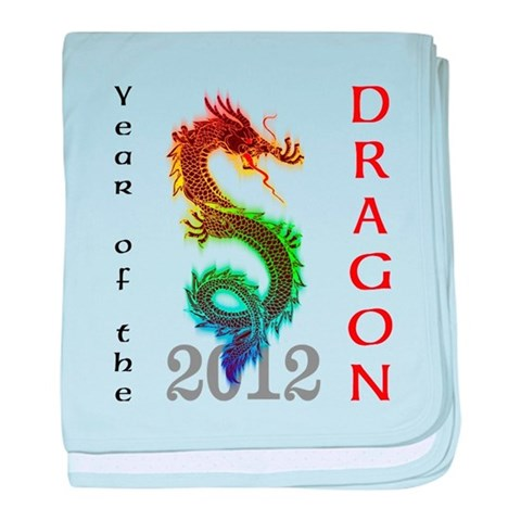 Year of the Dragon 2012  Chinese new year baby blanket by CafePress