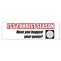 Florida Tourist Season Bumper Sticker