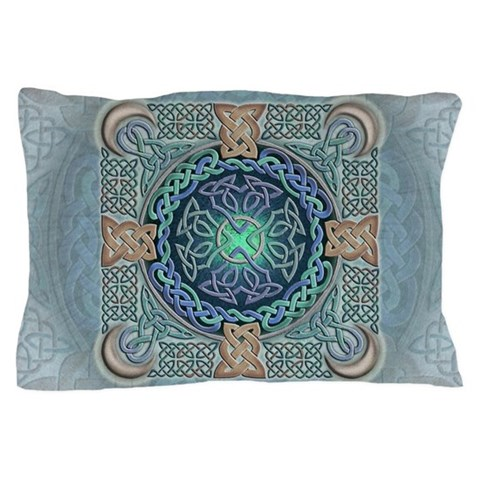 Celtic Eye of the World  Fantasy Pillow Case by CafePress