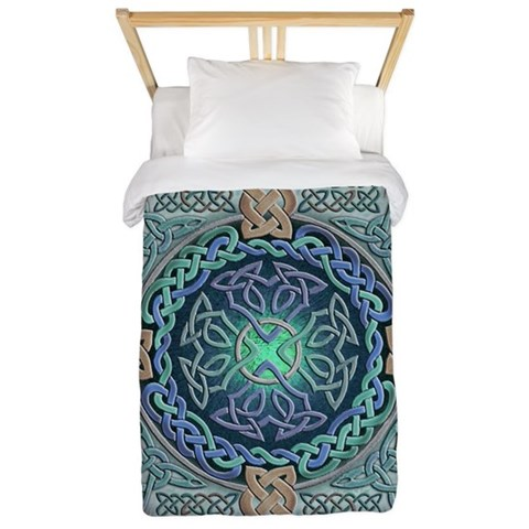 Celtic Eye of the World  Fantasy Twin Duvet by CafePress