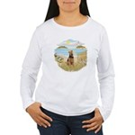 Rowboat - Airedale #1 Women's Long Sleeve T-Shirt