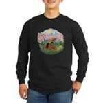 Blossoms / Airedale #5 Long Sleeve Dark T-Shirt