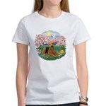 Blossoms / Airedale #5 Women's T-Shirt