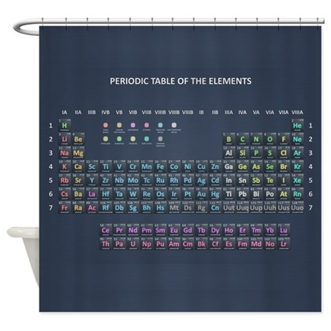 PERIODIC TABLE  Geek Shower Curtain by CafePress