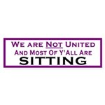 We Are Not United Bumper Sticker