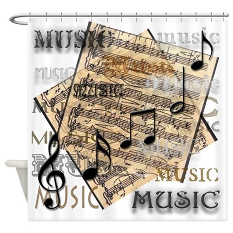 Vintage Music  Music Shower Curtain by CafePress