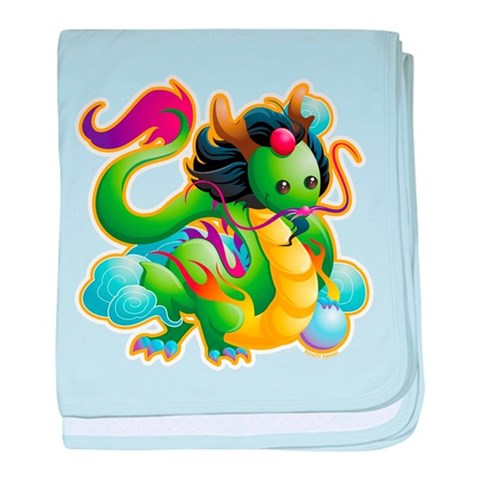 Year of the Dragon  Cute baby blanket by CafePress