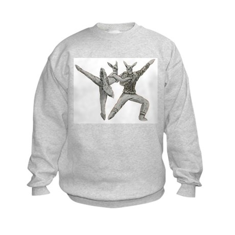 Rabbit Pair No. 5 Kids Sweatshirt