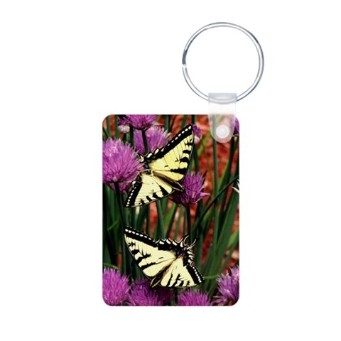 Butterfly  Nature Aluminum Photo Keychain by CafePress